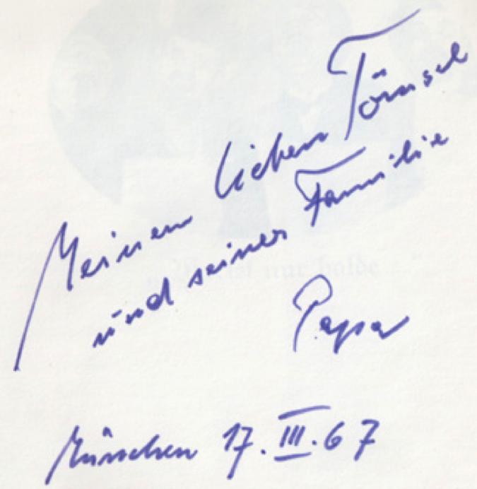 about John Heartfield family Book Inscription 1967