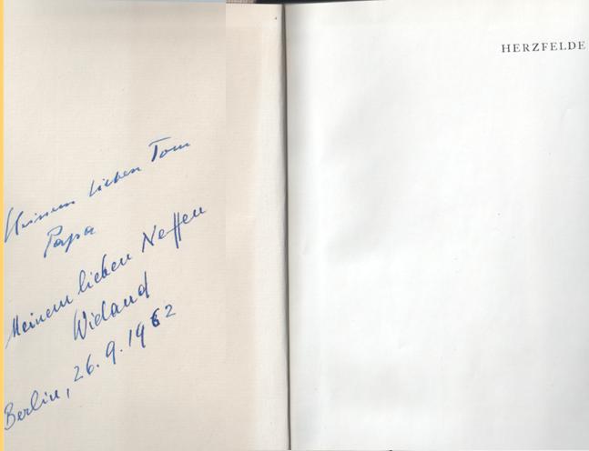 John Heartfield & Wieland Herzfelde Book Inscription 1962