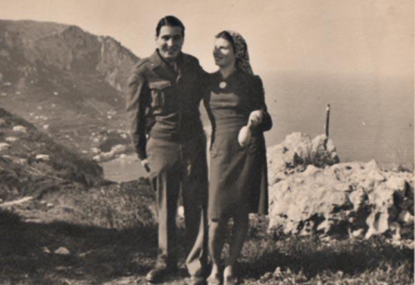 John Heartfield son, American soldier, Tom Heartfield, and Italian Partisan wife, Lina Heartfield