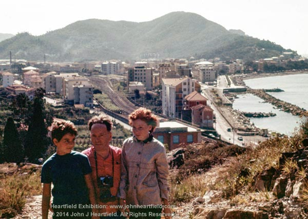 John J Heartfield, John Heartfield, Catherine Jacobson, Sestri Levante, Italy 1960s