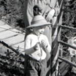 John Heartfield with his grandson, John J Heartfield (circa 1956)