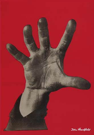 """John Heartfield """"5 Fingers hat die Hand"""" is one of the most famous political symbols of all time"""