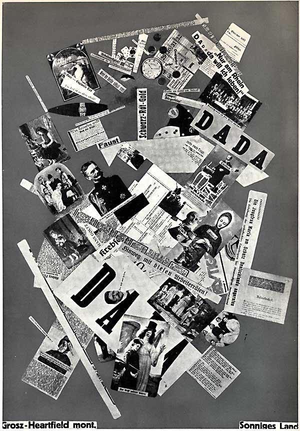 Grosz Heartfield Collage, Sonniges Land, 1919