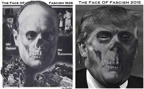 Political Art Museum Donald Trump Face Of Fascism