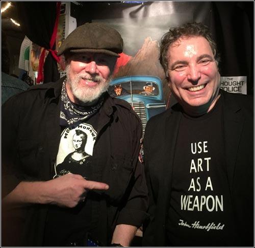 (L-R) Winston Smith & John J Heartfield, DADA WORLD FAIR, San Francisco Collage Museum, Nov. 2016