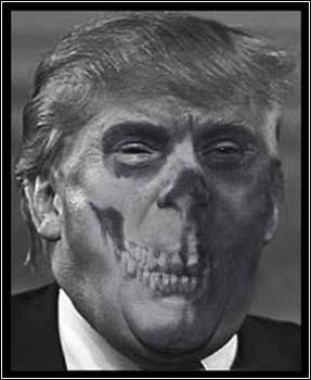 Portrait Trump Fascism Rising 2016